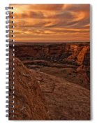Sunset Over The Rim Of Canyon De Spiral Notebook