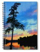 Sunset Over The Suwanee Mosaic Spiral Notebook