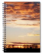 Sunset Over The Tree Line Spiral Notebook
