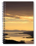 Sunset Over Water, Argyll And Bute Spiral Notebook