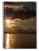 Sunset Paddleboarder Spiral Notebook