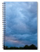 Sunset Painted Sky Spiral Notebook