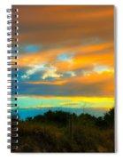 Sunset Palm Folly Beach  Spiral Notebook