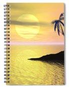 Sunset Palm Trees Spiral Notebook