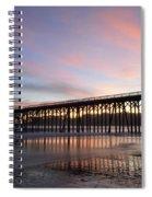 Sunset Pier San Simeon California 1 Spiral Notebook