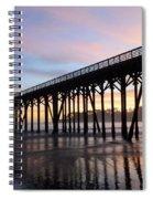 Sunset Pier San Simeon California 2 Spiral Notebook