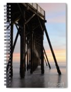 Sunset Pier California 3 Spiral Notebook