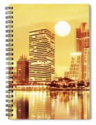 Sunset Scenes Of City Spiral Notebook