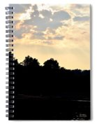 Sunset Silhouettes Over Star Lake Spiral Notebook