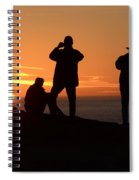 Sunset Silouettes Spiral Notebook