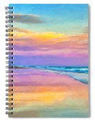 Sunset South Of Todos Santos Spiral Notebook