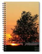 Square Photograph Of A Fiery Orange Sunset And Tree Silhouette Spiral Notebook