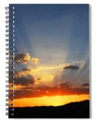 Sunset Sun Rays Spiral Notebook
