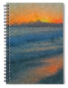 Sunset Surfers Spiral Notebook