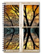 Sunset Tree Silhouette Abstract Picture Window View Spiral Notebook