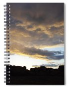Sunset Valley Of Fire Spiral Notebook