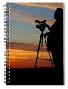 Sunset Videographer Spiral Notebook