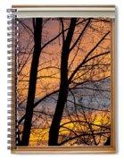 Sunset Window View Spiral Notebook