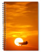 Sunset With Plane Spiral Notebook