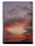 Sunset With Trees Spiral Notebook
