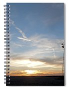 Sunset With Windmill Spiral Notebook