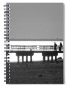 Sunsets On Coney Island In Black And White Spiral Notebook