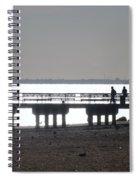Sunsets On Coney Island Pier Spiral Notebook