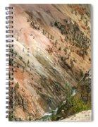 Sunshine On Grand Canyon In Yellowstone Spiral Notebook