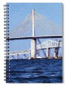 Sunshine Skyway Bridge II Spiral Notebook