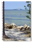 Sunshine Skyway From The Causeway Spiral Notebook