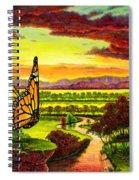 Sunshine Traveler-monarch Spiral Notebook