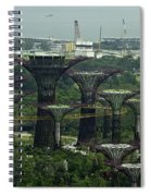 Supertrees At The Gardens By The Bay In Singapore Spiral Notebook