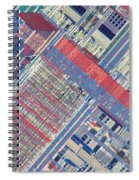 Surface Of Integrated Chip Spiral Notebook