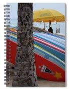 Surfboards On Waikiki Beach Spiral Notebook