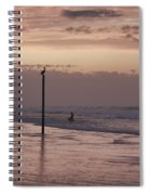 Surfers Pelicans And Pink Sky Spiral Notebook