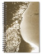 Surfs Edge In Sepia Spiral Notebook