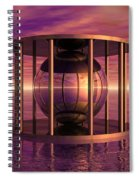 Metal Cage Floating In Water Spiral Notebook