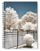 Surreal Michigan Infrared Nature - Dreamy Color Infrared Nature Fence Landscape Michigan Infrared Spiral Notebook