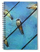 Swallows Goes To South Spiral Notebook