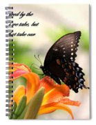 Swallowtail Card Spiral Notebook