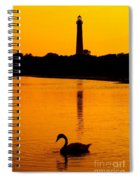 Swan Sunset At The Light Spiral Notebook