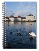 Swans Seen At Nymphenburg Palace Spiral Notebook
