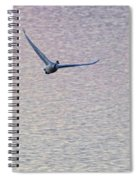 Swans Taking Off From Tagish River Spiral Notebook