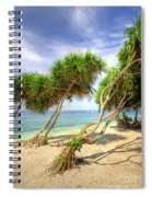 Swaying Palm Trees Spiral Notebook