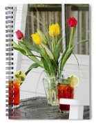 Sweet Tea And Tulips Spiral Notebook