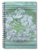 Sweetheart Birthday Greeting Card - Wild Phlox Spiral Notebook