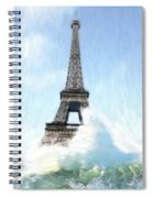 Swimming Pleasure In Paris Spiral Notebook