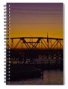 Swing Bridge Sunset Spiral Notebook