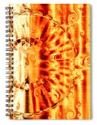 Swirly Embossed Gold Spiral Notebook