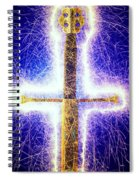 Sword With Sparks Spiral Notebook